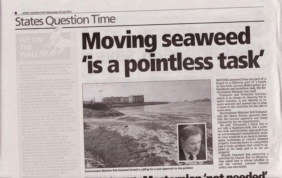 JEP 18 July Seaweed disposal